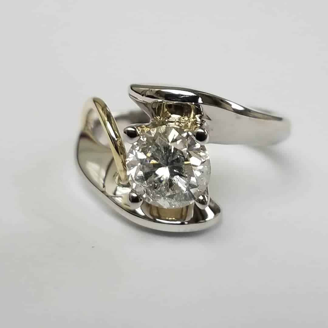 2 Tone Custom Engagement Ring Front