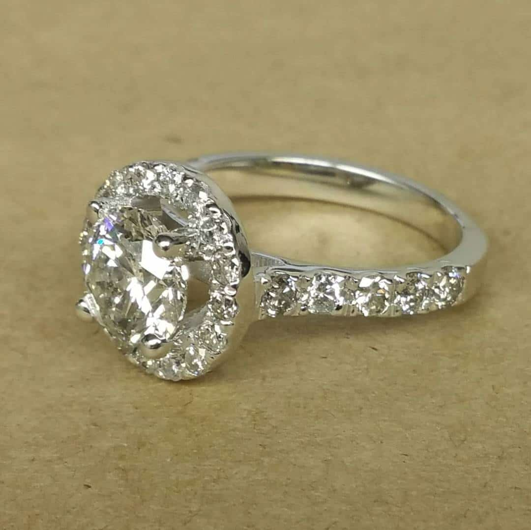 White Gold Engagement Ring Front