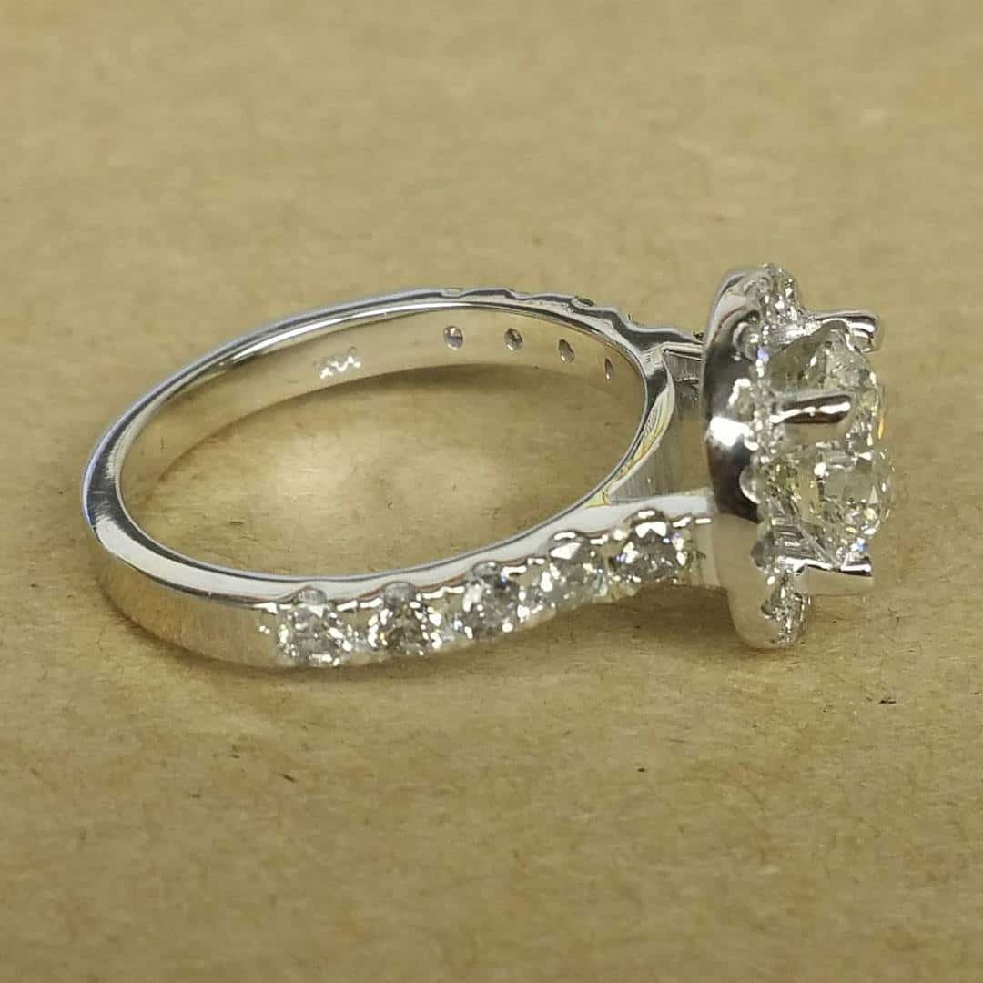 White Gold Engagement Ring Side